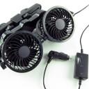 ヘッドレスト 車載扇風機 (二個タイプ)