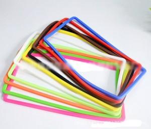 シリコンナンバーフレーム シリコンフレーム ナンバープレートフレームシリコンカバー 全10色選択可ーー10色