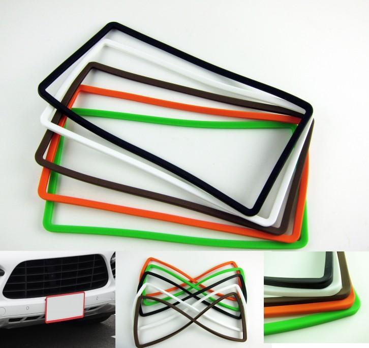 シリコンナンバーフレーム シリコンフレーム ナンバープレートフレームシリコンカバー 全10色選択可