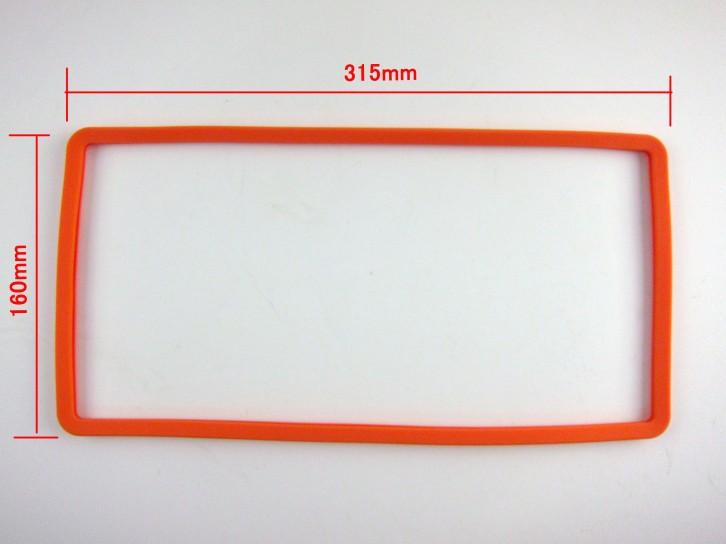 シリコンナンバーフレーム シリコンフレーム ナンバープレートフレームシリコンカバー 全10色選択可ーーサイズ図
