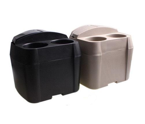 車用蓋付きゴミ箱 ドリンクホルダーつき 分類できるゴミ箱