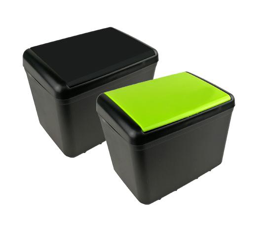 車内用 ワンプッシュ式蓋付きゴミ箱ダストボックス 収納箱