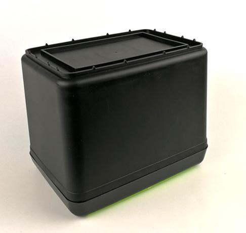 車内用 ワンプッシュ式蓋付きゴミ箱ダストボックス 収納箱ーー底部図