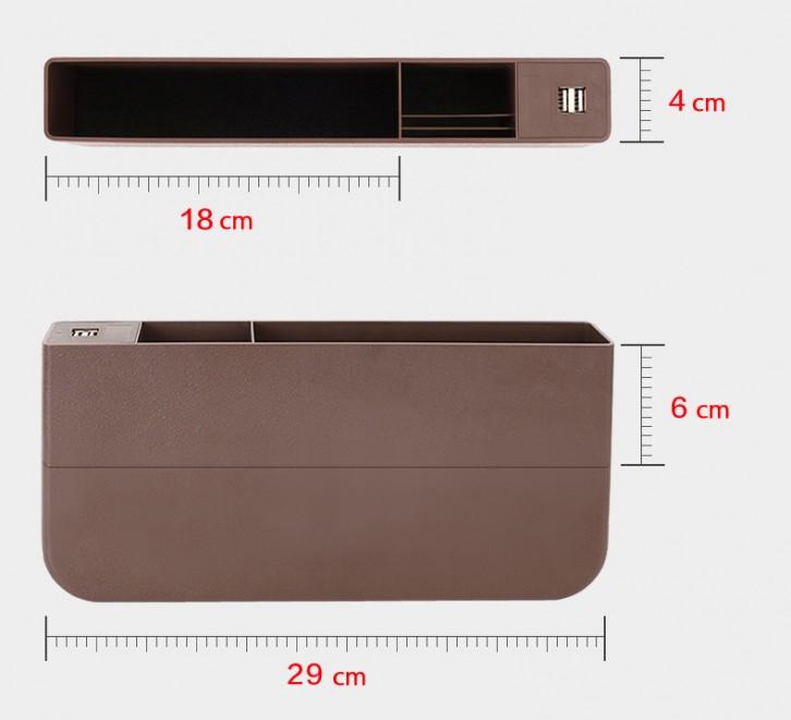 シートすき間ホルダー 隙間収納箱 シートサイド収納ポケットーータイプ①サイズ