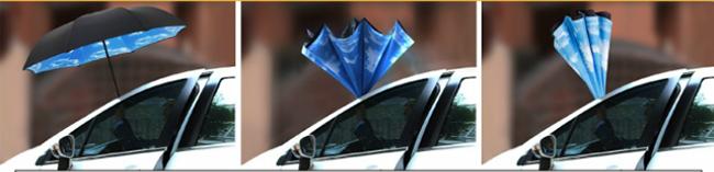 逆さ傘 二重傘 晴雨兼用 さかさま傘ーー車関連