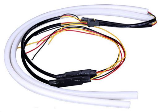 シーケンシャル 流れるLEDテープ ウィンカー シリコンチューブタイプ 60cm