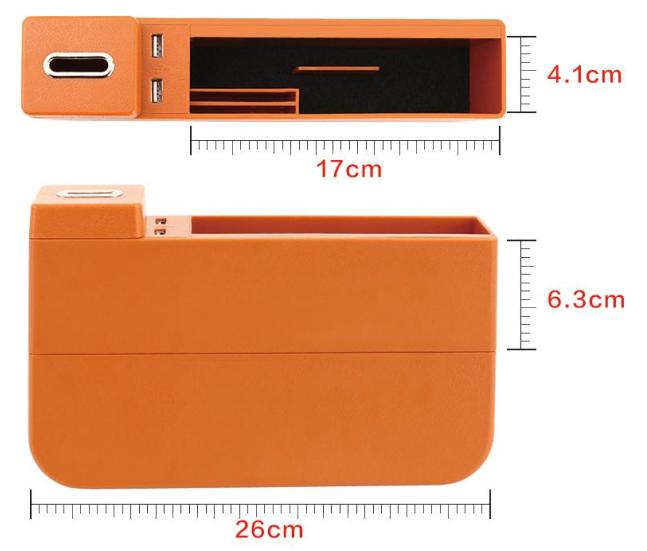 シートすき間ホルダー 隙間収納箱 シートサイド収納ポケットーータイプ③サイズ